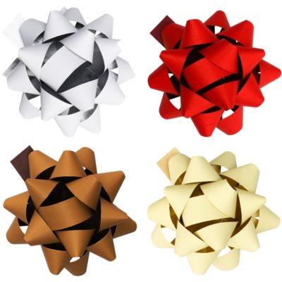 gwiazdy samoprzylepne na prezent duże  w czterech kolorach
