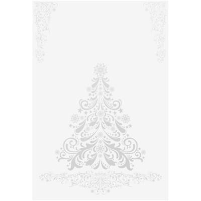 Felicitare de Crăciun copac argintiu fără text (A6)
