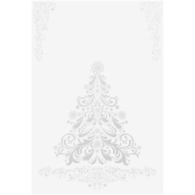 tarjeta de Navidad Silver Tree sin texto (A6)
