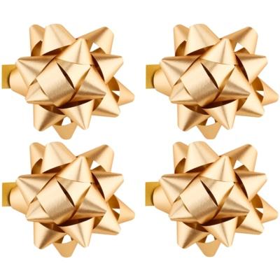 estrella decorativa adhesiva brillante, pequeña 4 uds