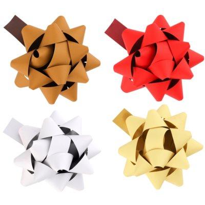 Set stea decorativă mică, 4 culori