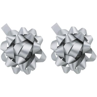 decorațiune Star argintiu, 2 bucăți