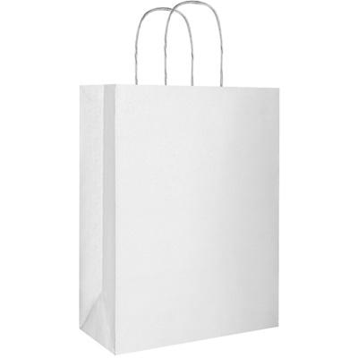 Pungă cadou eco argintie -  mare (220 x 290 x 100 mm)
