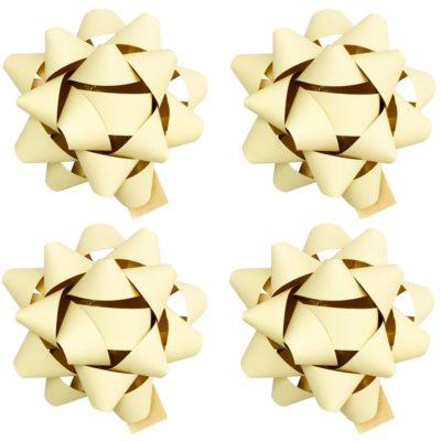 stea adezivă decorativă - mică, mată, 4 bucăți