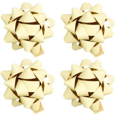 gwiazdy samoprzylepne na prezent małe - matowe w czterech kolorach