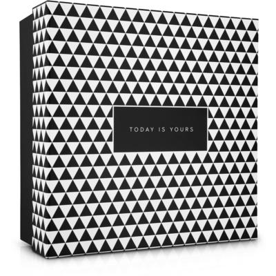 caja de regalo con tapa estampado geométrico (180 x 80 x 180 mm)
