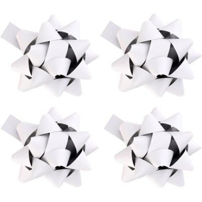 decoración para regalo estrella pequeña, color blanco 4 uds