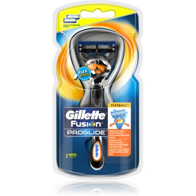 Gillette Fusion Proglide Flexball Rasierapparat + Ersatzköpfe 2 pc