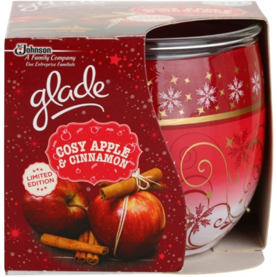 Glade Cosy Apple & Cinnamon Scented Candle