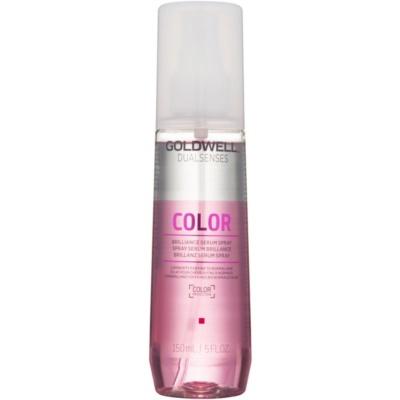 Spülungsfreies Serum als Spray für mehr Glanz und Schutz gefärbter Haare
