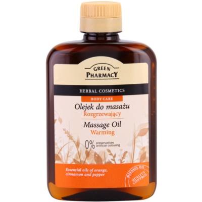 hřejivý masážní olej