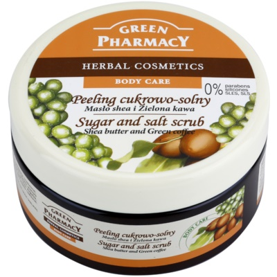 Green Pharmacy Body Care Shea Butter & Green Coffee peeling de açúcar - sal