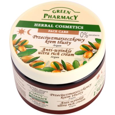 Green Pharmacy Face Care Argan hranilna krema proti gubam za suho kožo