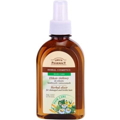 bylinný elixír pro poškozené a lámave vlasy