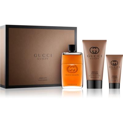 Gucci Guilty Absolute poklon set II.  parfemska voda 90 ml + balzam poslije brijanja 50 ml + gel za tuširanje 150 ml