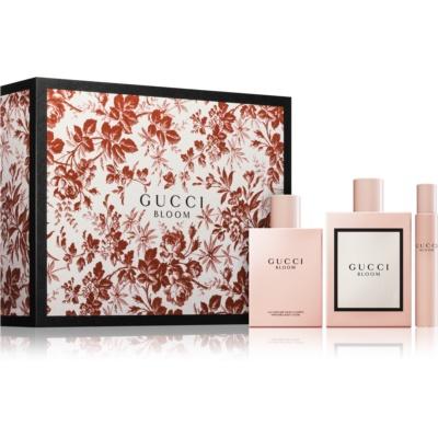 Gucci Bloom coffret cadeau III.  eau de parfum 100 ml + lait corporel 100 ml + eau de parfum roll-on 7,4 ml