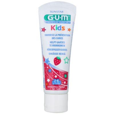 G.U.M Kids Tandgel voor Kinderen  met Aardbeien Smaak