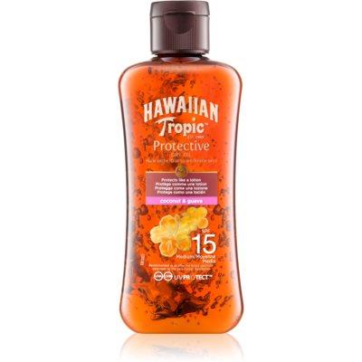 Hawaiian Tropic Protective ulei de bronzat pentru piele uscata SPF15