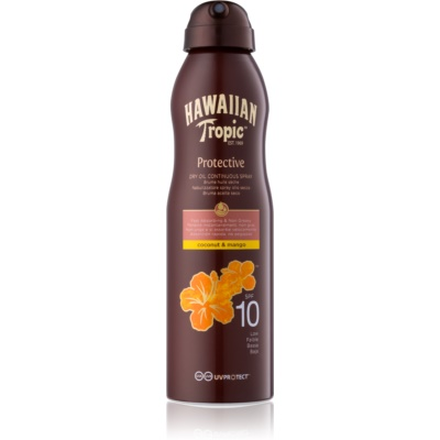 Hawaiian Tropic Protective Droge Olie voor Bruinen in Spray  SPF 10