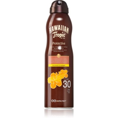 Hawaiian Tropic Protective Dry Sunscreen Oil in Spray SPF 30