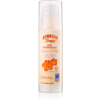 Hawaiian Tropic Silk Hydration Air Soft Body Sunscreen Lotion SPF 15