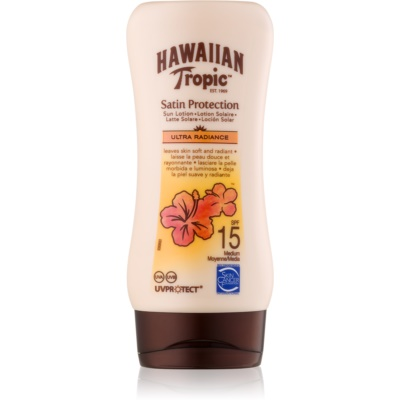 Hawaiian Tropic Satin Protection leche solar resistente al agua SPF 15