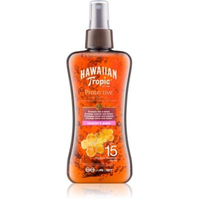 Hawaiian Tropic Protective vodeodolný ochranný suchý olej na opaľovanie SPF15