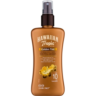 Hawaiian Tropic Golden Tint beschermende body lotion in sprayvorm SPF 10