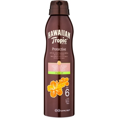 Hawaiian Tropic Protective Waterproof Sun Protection Dry Oil SPF 6