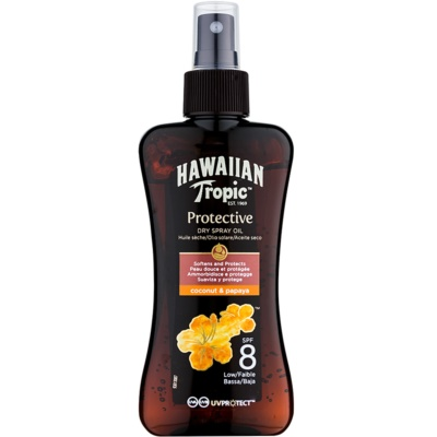 Hawaiian Tropic Protective aceite seco solar resistente al agua SPF 8