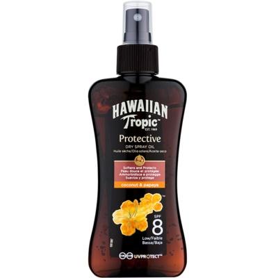 Hawaiian Tropic Protective wodoodporny suchy olejek ochronny do opalania SPF 8