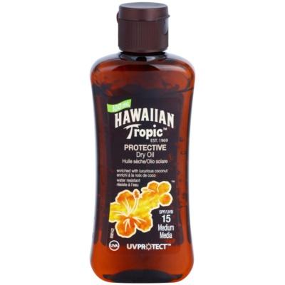 Hawaiian Tropic Protective Waterproef Beschermende Droge Olie voor Bruinen  SPF 15