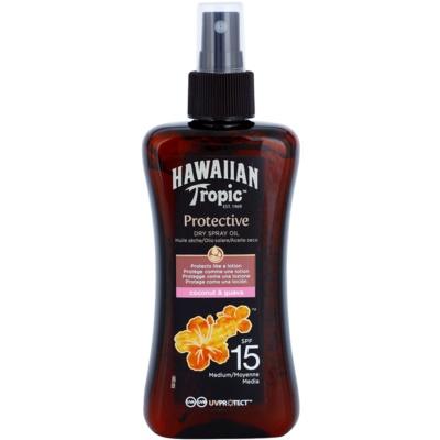 Hawaiian Tropic Protective aceite seco solar resistente al agua SPF 15