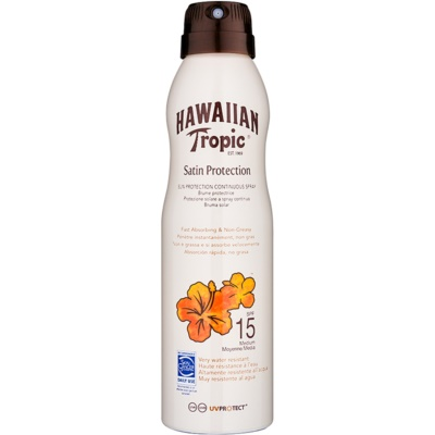 Hawaiian Tropic Satin Protection spray pentru bronzat SPF 15