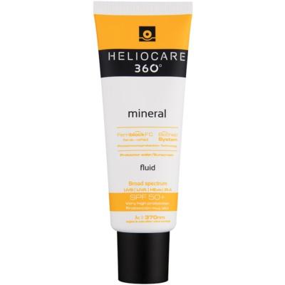 protector solar mineral fluido en crema SPF 50+