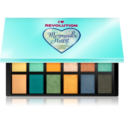 I Heart Revolution Mermaids Heart Oogschaduw Palette