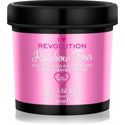 I Heart Revolution Rainbow Tones barva za lase, ki se izpira za lase odtenek Pink Universe 120 ml