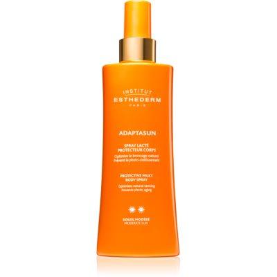schützende Sonnenmilch im Spray mittlerer UV-Schutz
