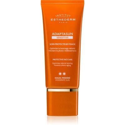 creme facial protetor com proteção UV média