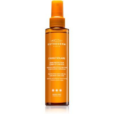 olje za sončenje za telo in lase z visoko UV zaščito