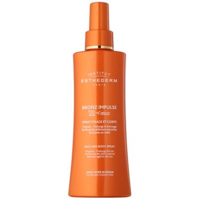 Institut Esthederm Bronz Impulse emulsão em spray para um rápido e duradouro bronzeado do rosto e corpo