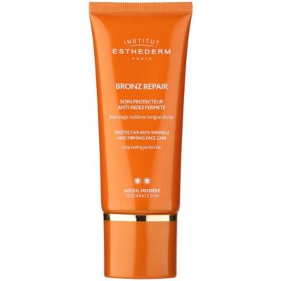укрепващ крем за лице против бръчки със средна UV защита