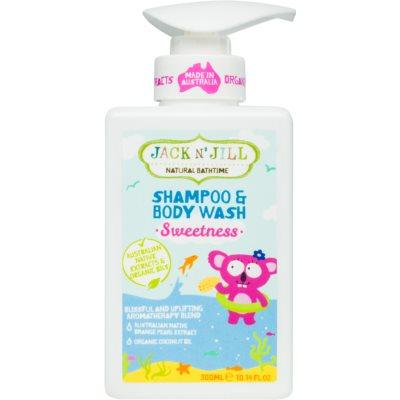 Jack N' Jill Sweetness gel douche et shampoing doux pour enfant 2 en 1