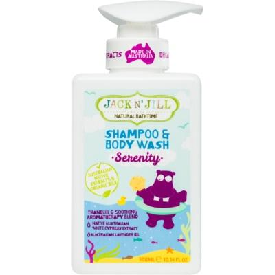 Jack N' Jill Serenity gel douche et shampoing doux pour enfant 2 en 1