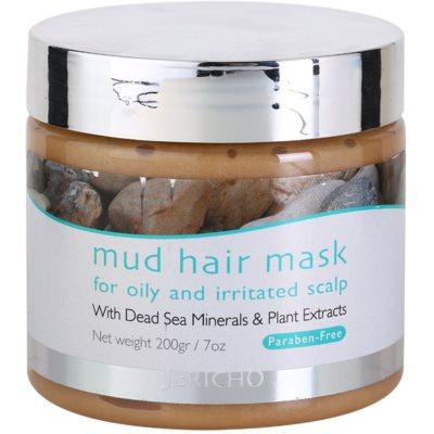 маска за коса с кал за мазен и раздразнен скалп