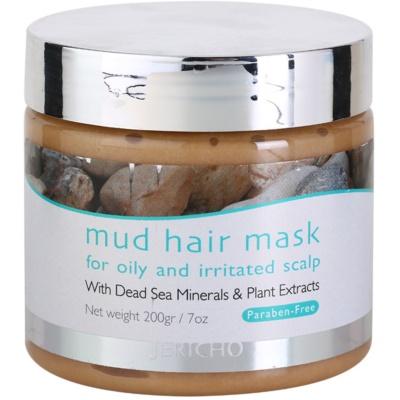 Schlammmaske für das Haar für fettige und irritierte Kopfhaut