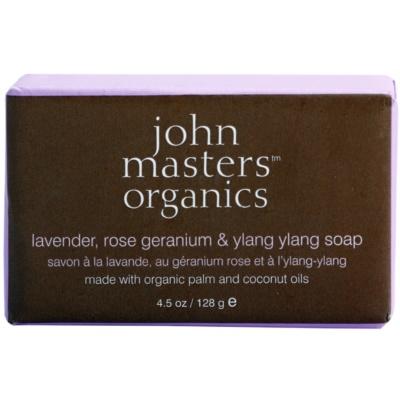 John Masters Organics Lavender Rose Geranium &  Ylang Ylang ενυδατικό σαπούνι Για  πρόσωπο και σώμα