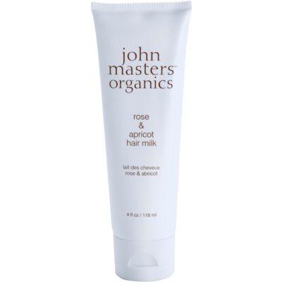 John Masters Organics Rose & Apricot lait sans rinçage pour les pointes sèches
