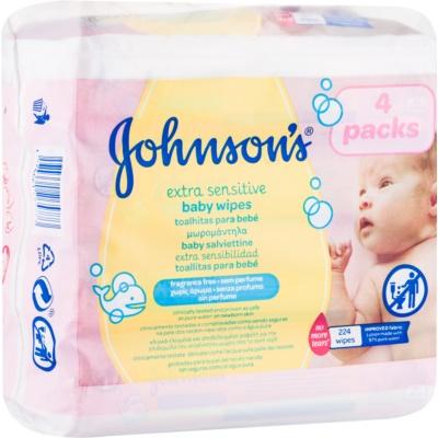 Johnson's Baby Diapering extra finom nedves törlőkendő tisztításra gyermekeknek