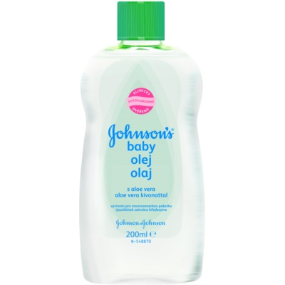 Johnson's Baby Care óleo com aloe vera